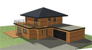 construction maison bioclimatique bois - maison écologique à énergie positive - M2EP